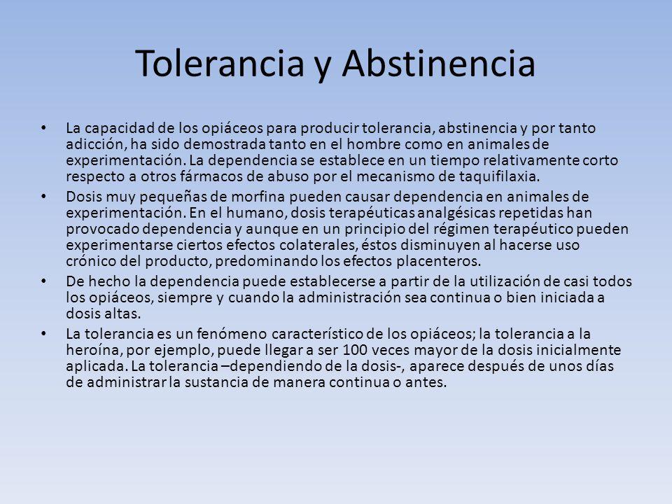 Tolerancia y Abstinencia