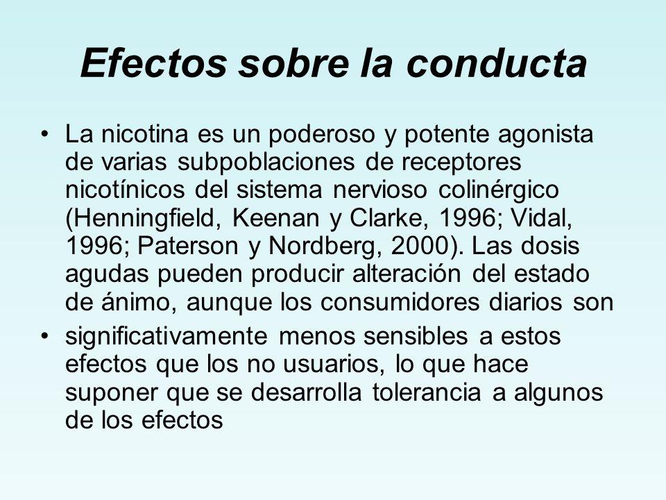 Efectos sobre la conducta