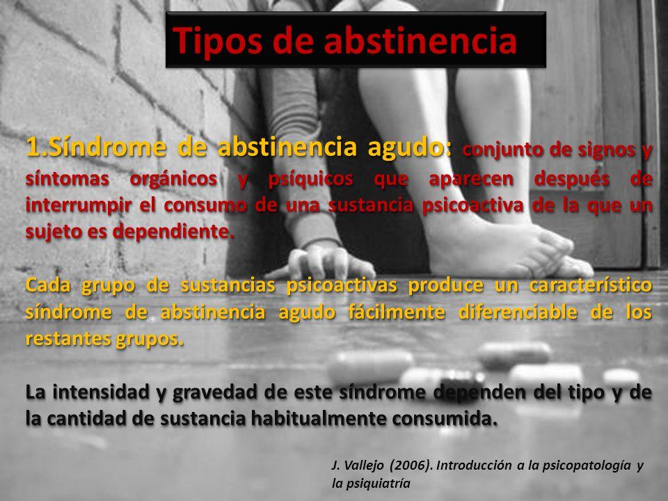 Tipos de abstinencia