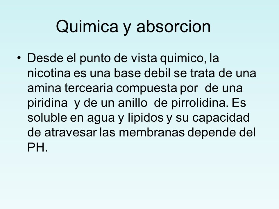 Quimica y absorcion