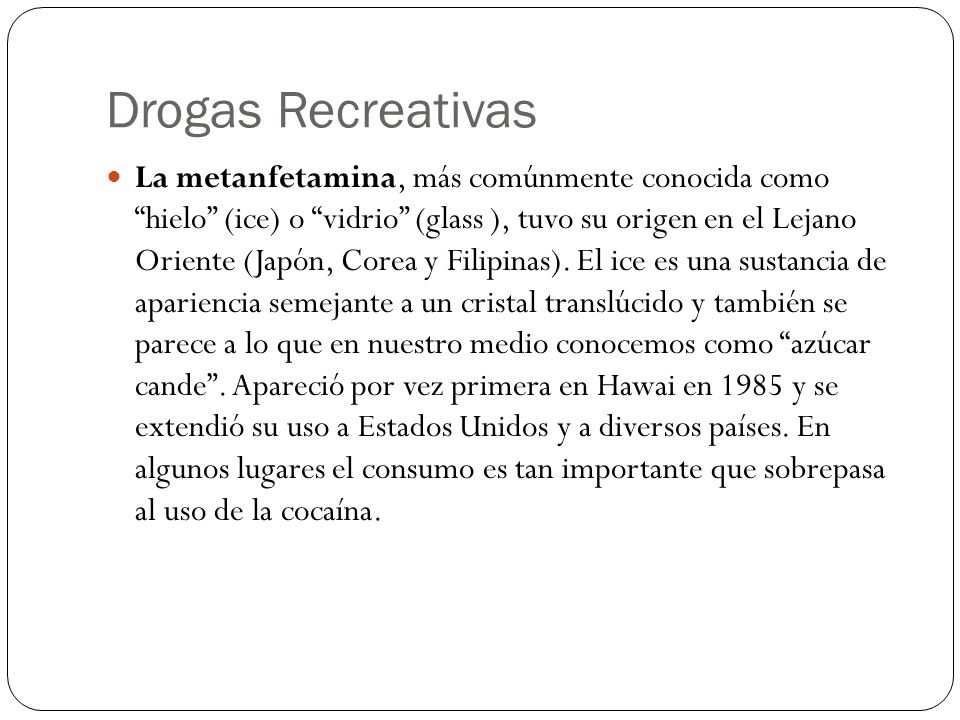 Drogas Recreativas