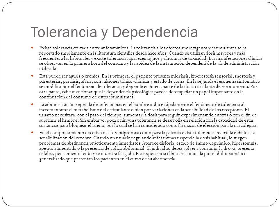 Tolerancia y Dependencia