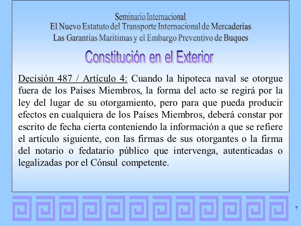 Constitución en el Exterior