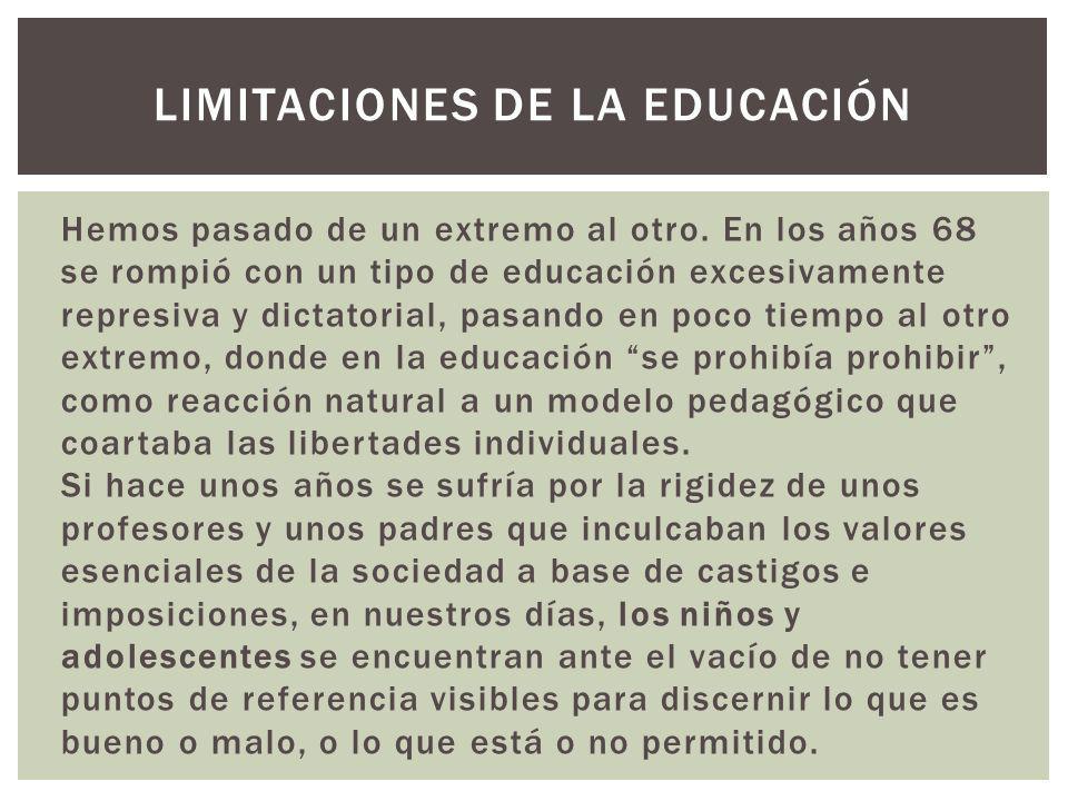 LIMITACIONES DE LA EDUCACIÓN