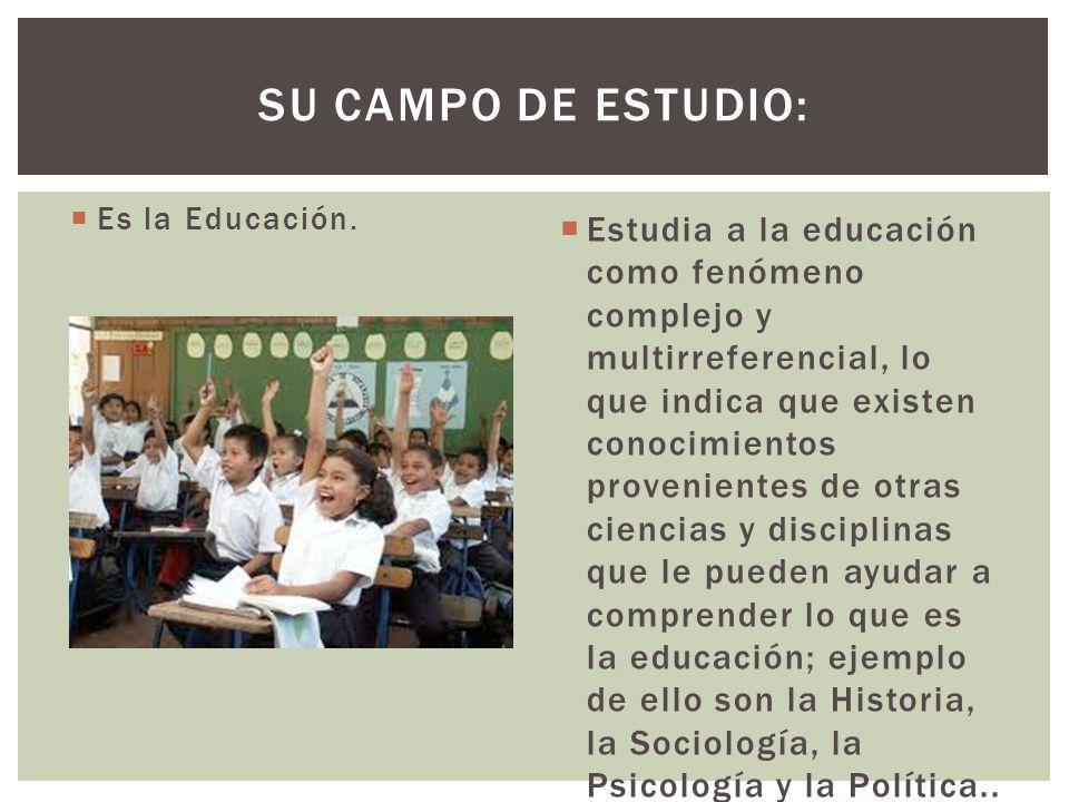 Su campo de estudio: Es la Educación.