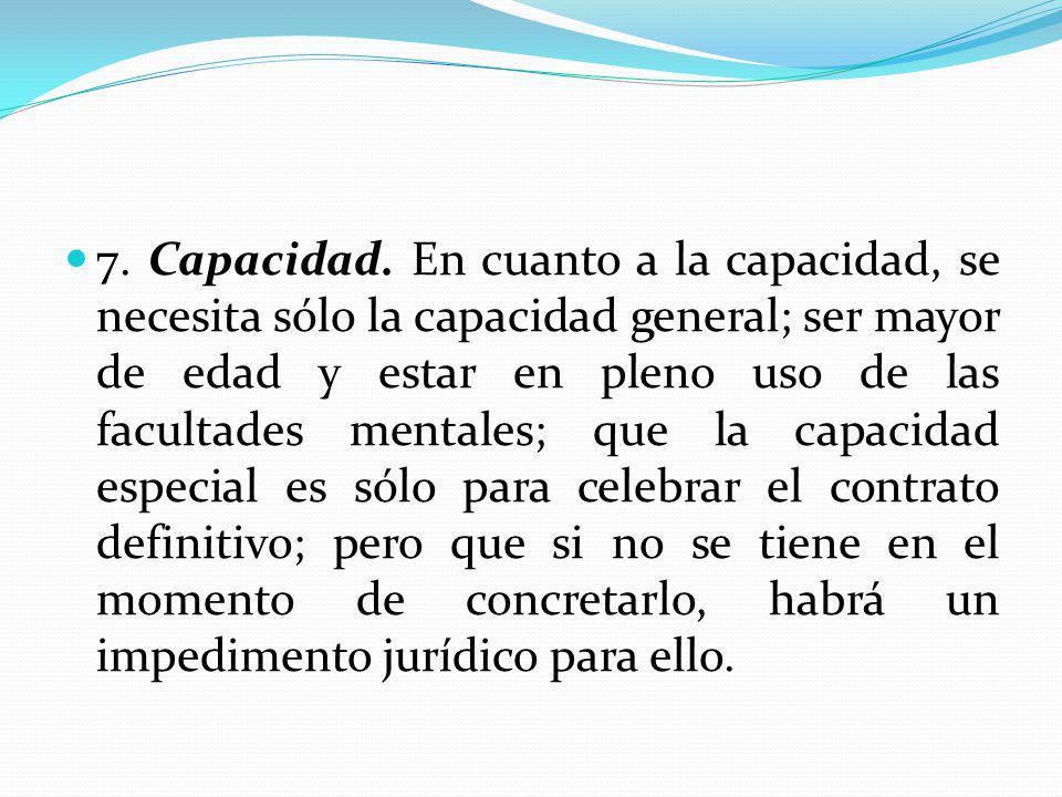 7. Capacidad.