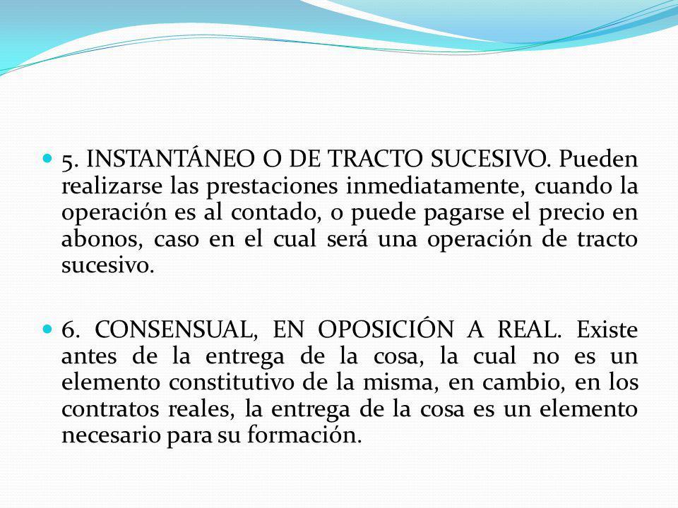 5. INSTANTÁNEO O DE TRACTO SUCESIVO