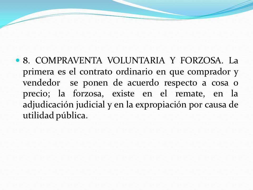 8. COMPRAVENTA VOLUNTARIA Y FORZOSA
