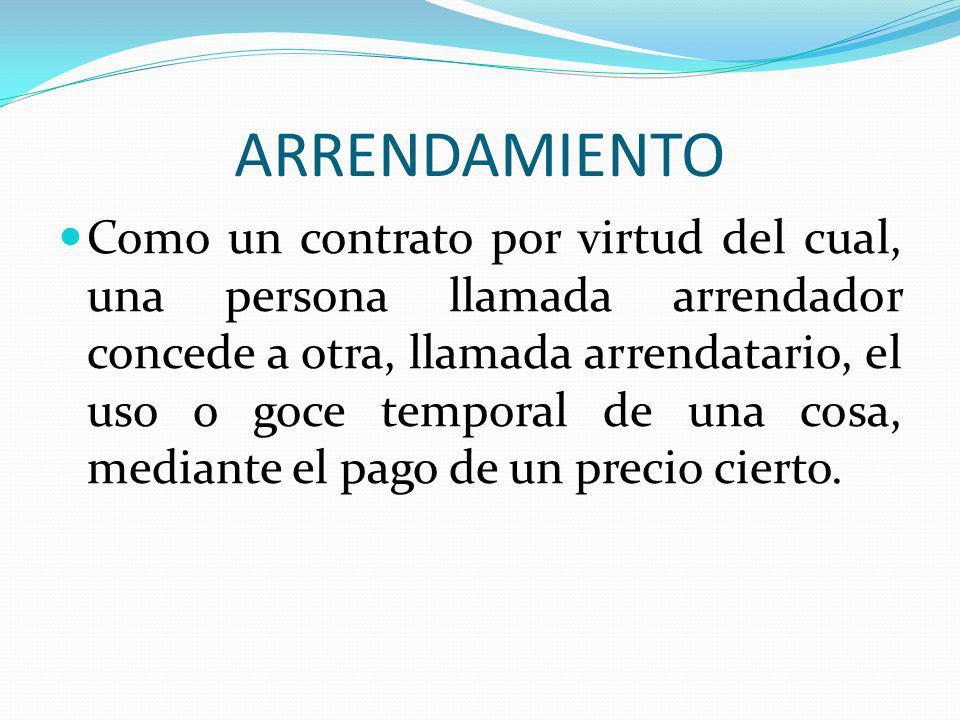 ARRENDAMIENTO