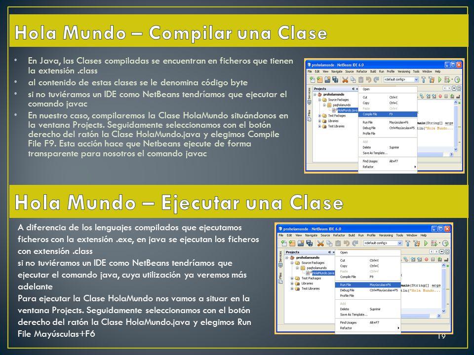 Hola Mundo – Compilar una Clase