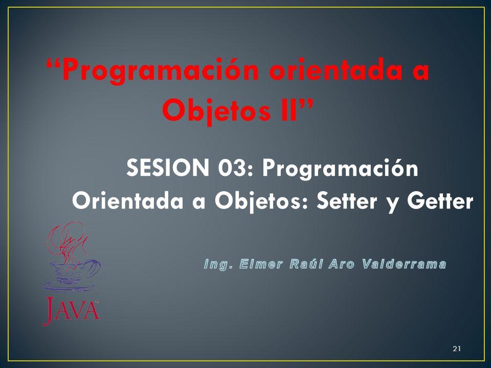 Programación orientada a Objetos II