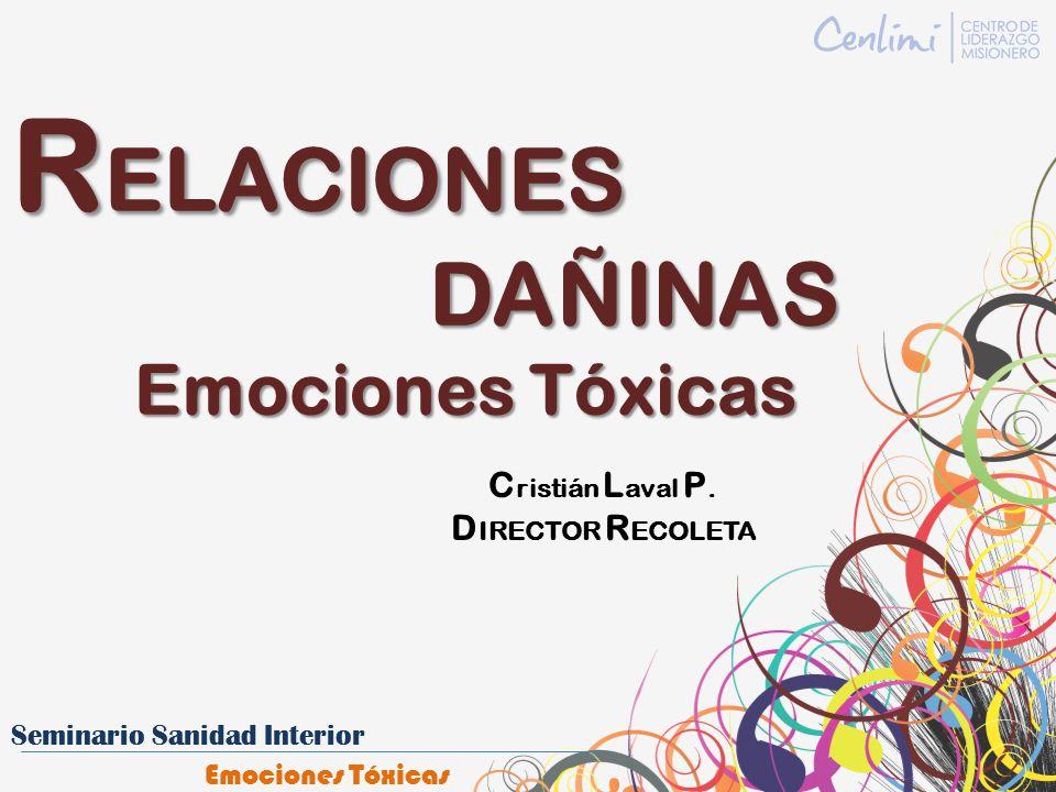 RELACIONES DAÑINAS Emociones Tóxicas Cristián Laval P.