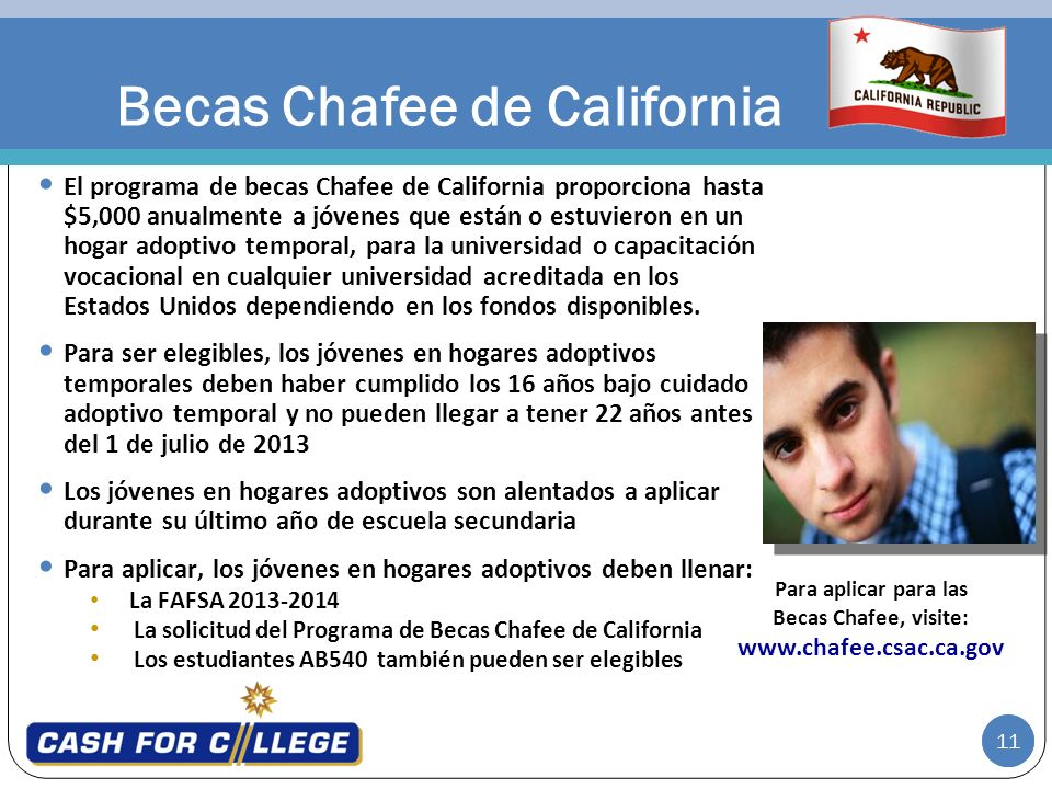 Becas Chafee de California