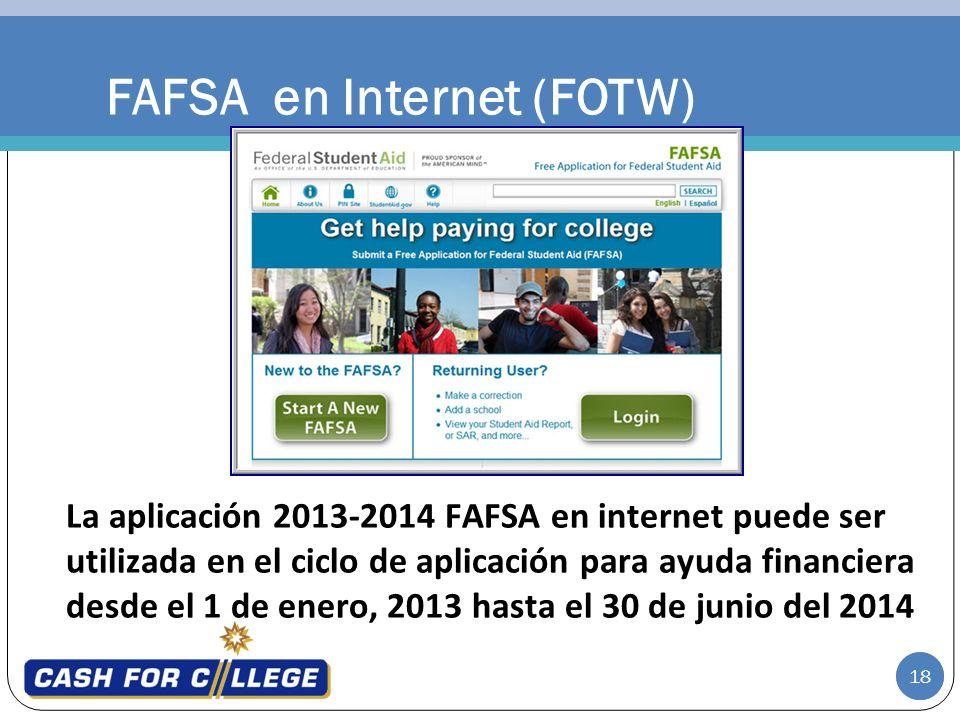 FAFSA en Internet (FOTW)