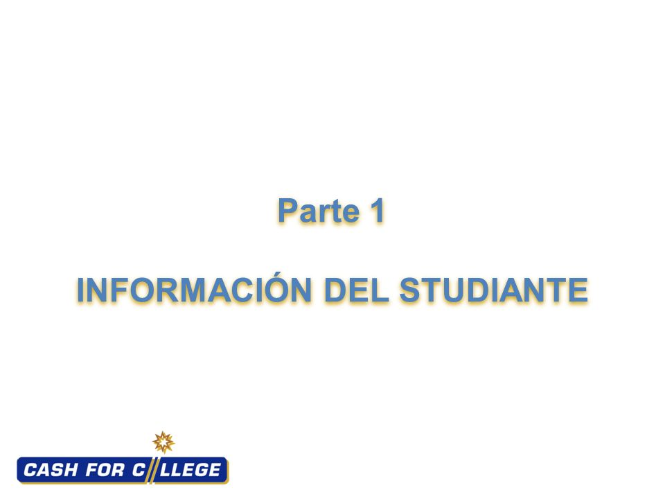 Parte 1 INFORMACIÓN DEL STUDIANTE