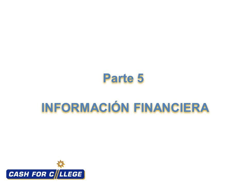 Parte 5 INFORMACIÓN FINANCIERA