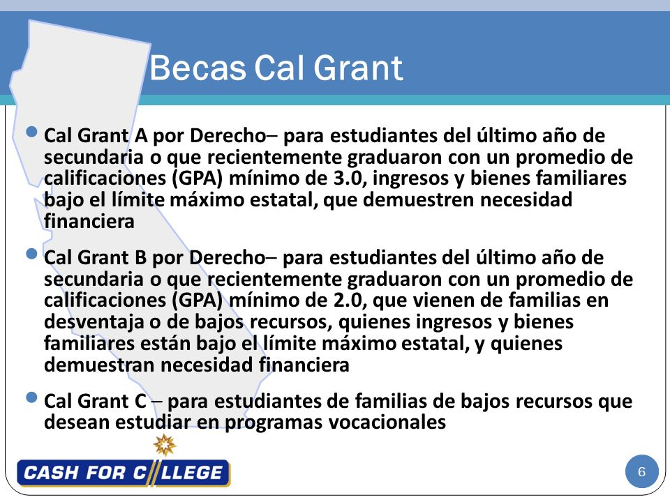 Becas Cal Grant