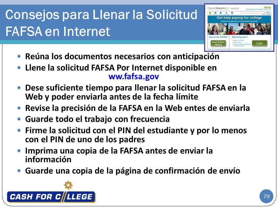 Consejos para Llenar la Solicitud FAFSA en Internet