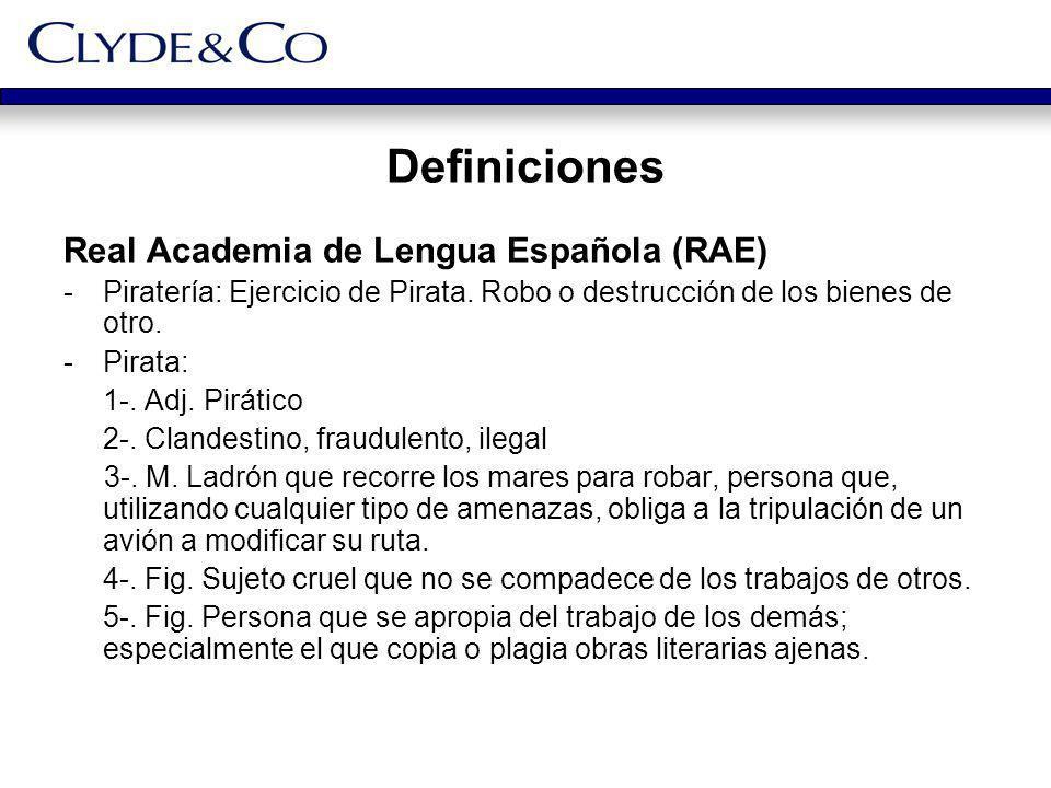 Definiciones Real Academia de Lengua Española (RAE)