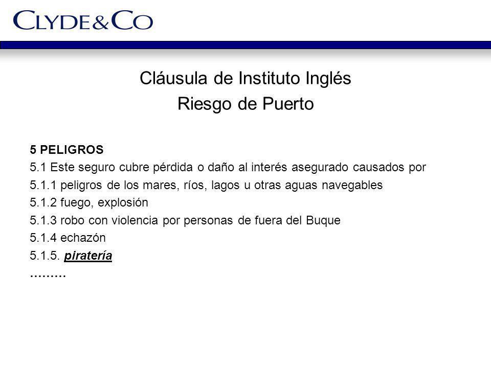 Cláusula de Instituto Inglés