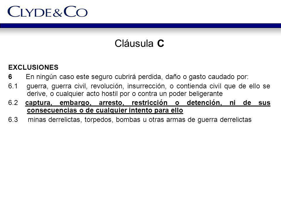 Cláusula C EXCLUSIONES