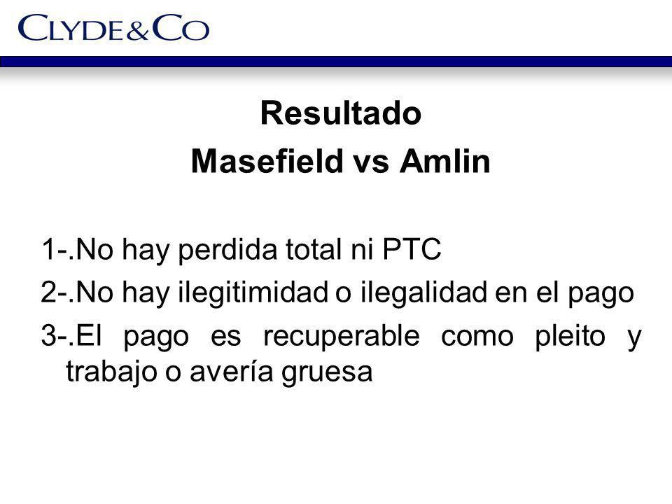 Resultado Masefield vs Amlin