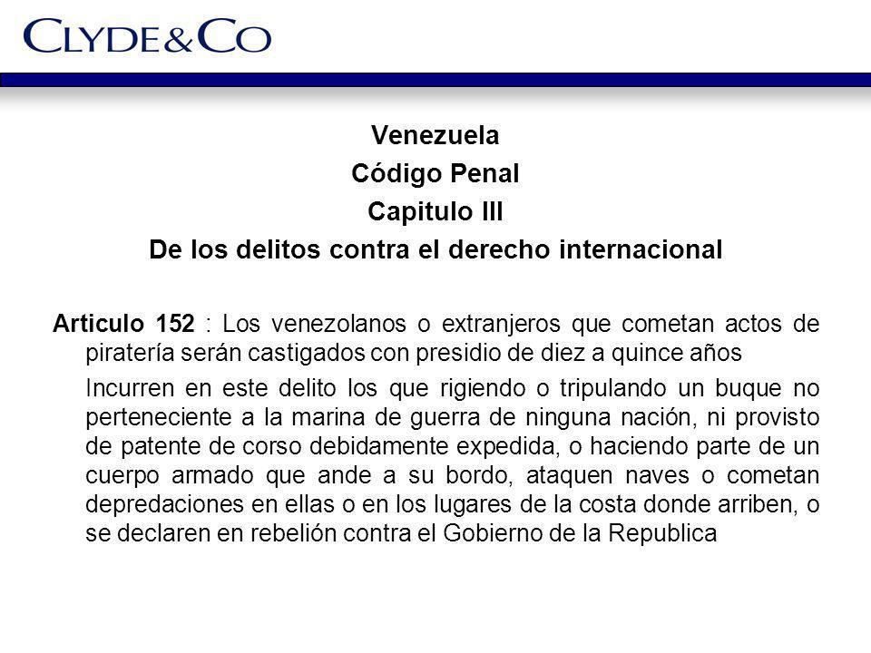 De los delitos contra el derecho internacional