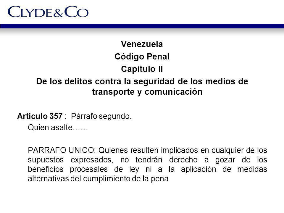 Venezuela Código Penal Capitulo II