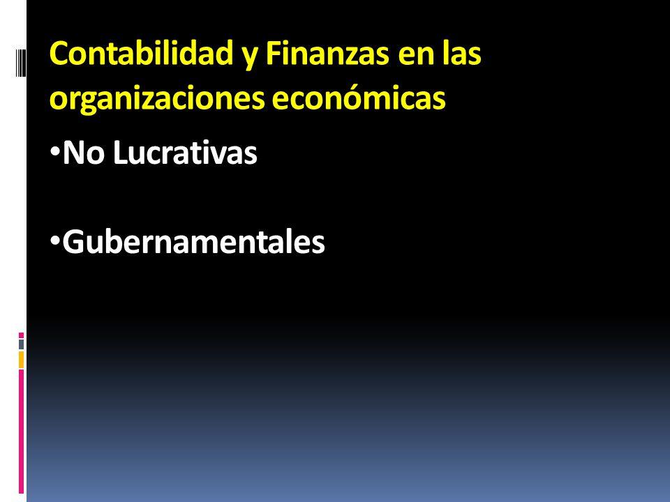 Contabilidad y Finanzas en las organizaciones económicas