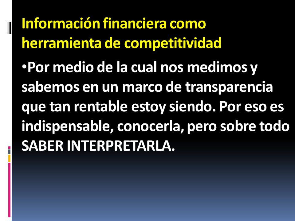 Información financiera como herramienta de competitividad