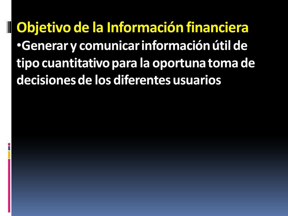 Objetivo de la Información financiera