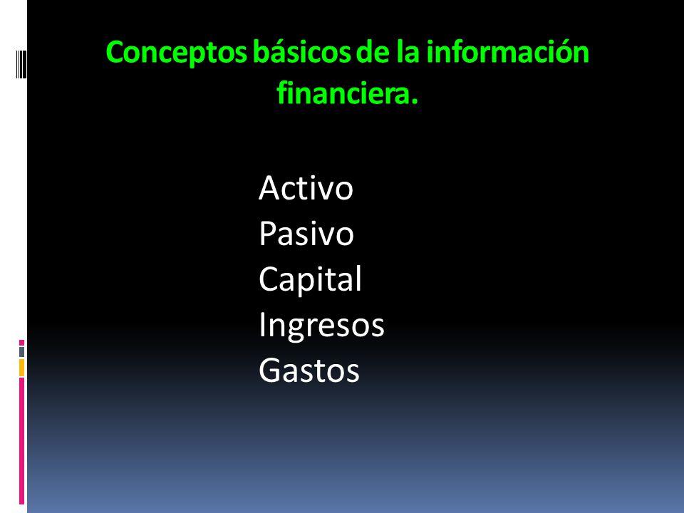 Conceptos básicos de la información financiera.