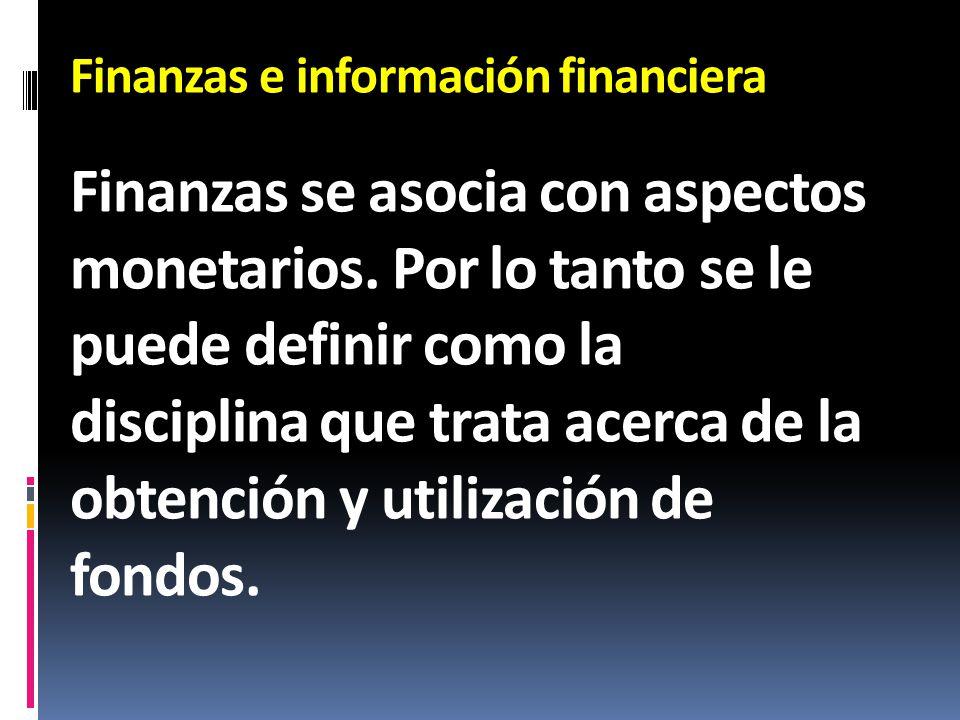 Finanzas e información financiera