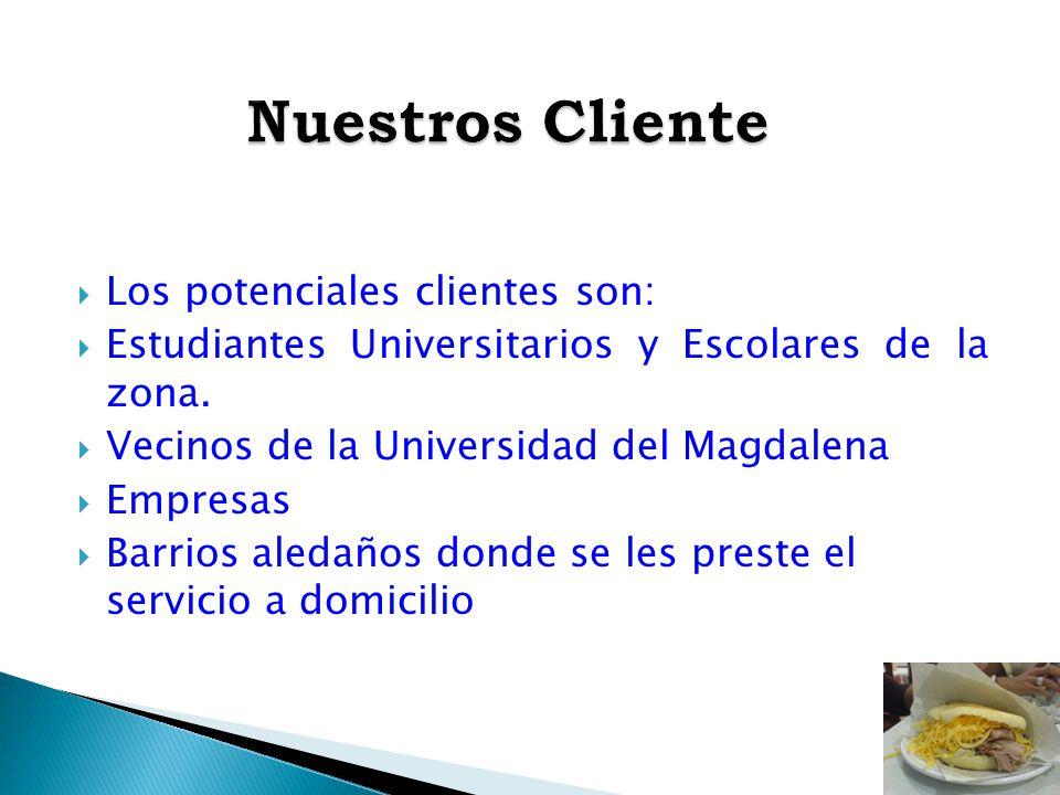 Nuestros Cliente Los potenciales clientes son: