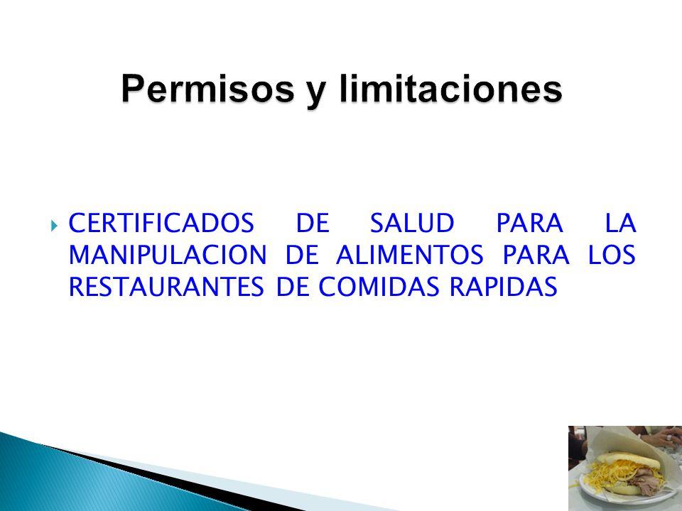 Permisos y limitaciones