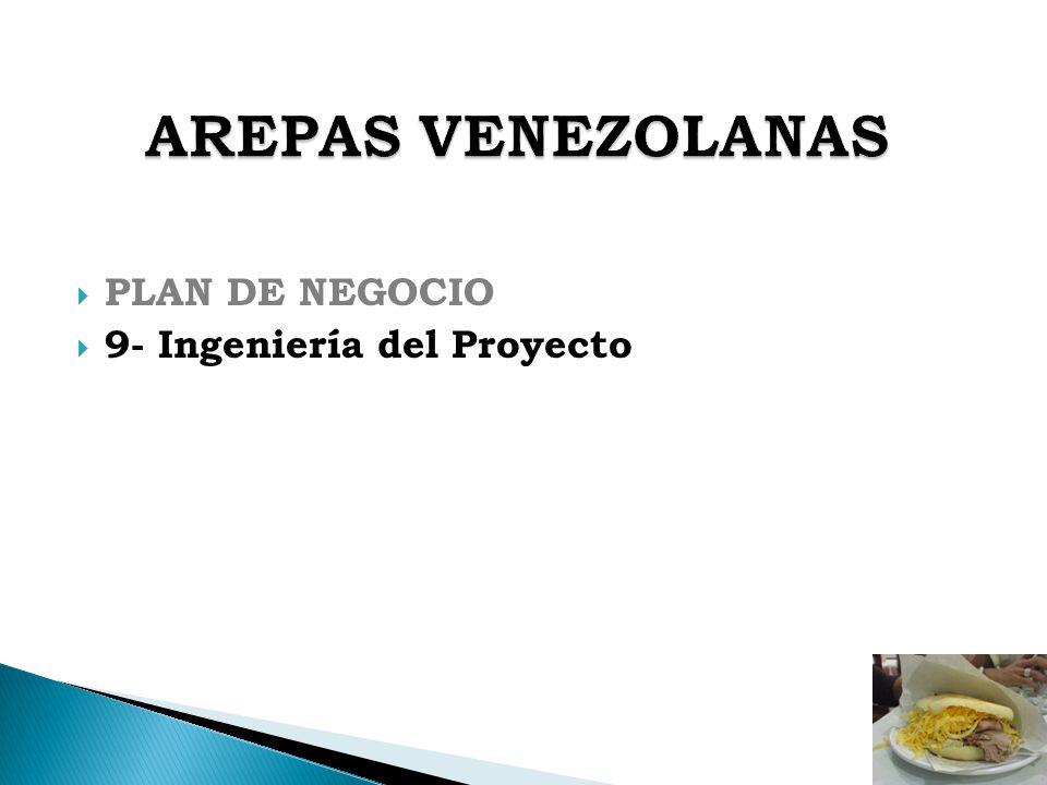 AREPAS VENEZOLANAS PLAN DE NEGOCIO 9- Ingeniería del Proyecto