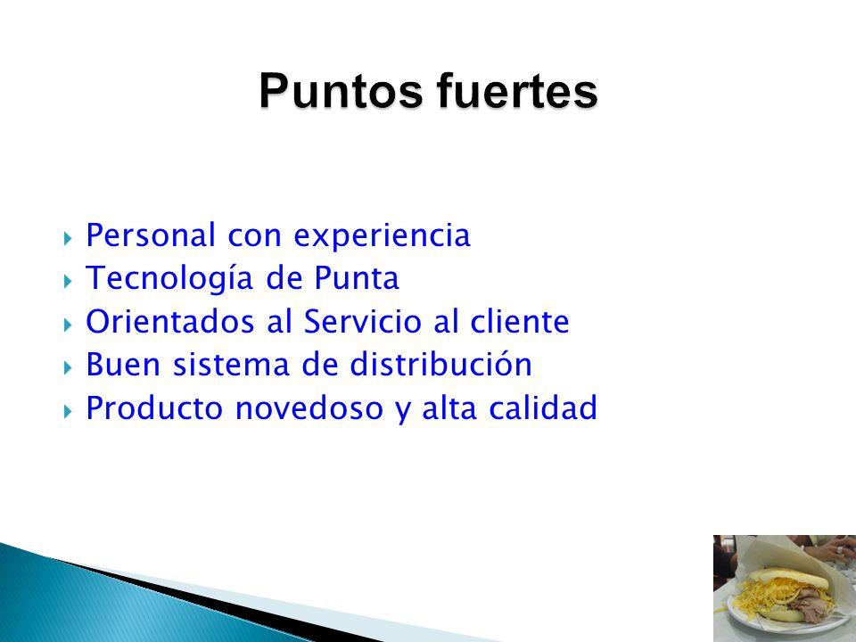 Puntos fuertes Personal con experiencia Tecnología de Punta