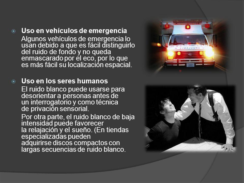 Uso en vehículos de emergencia