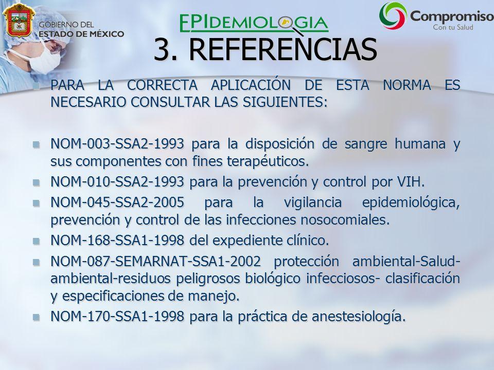 3. REFERENCIAS PARA LA CORRECTA APLICACIÓN DE ESTA NORMA ES NECESARIO CONSULTAR LAS SIGUIENTES: