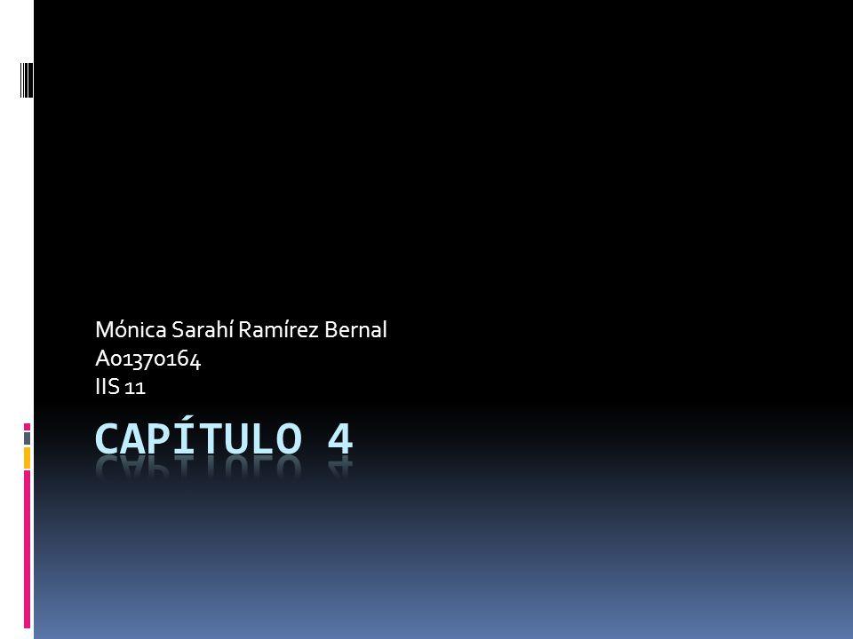 Mónica Sarahí Ramírez Bernal A01370164 IIS 11