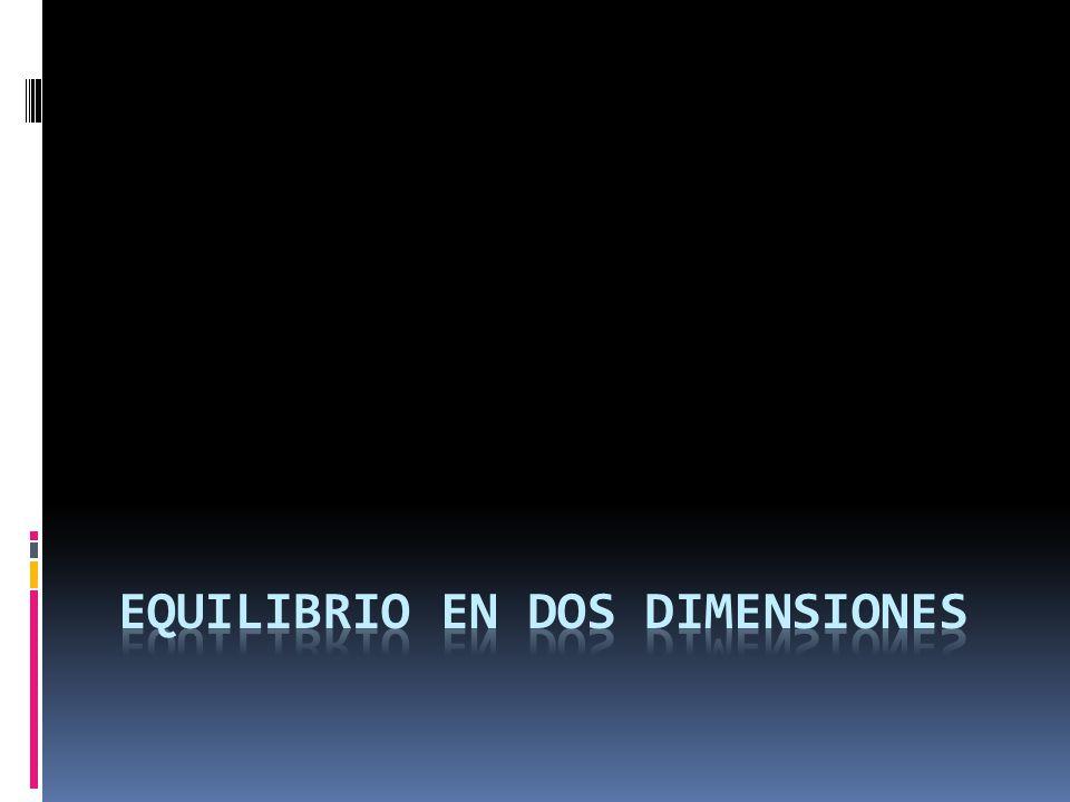 EQUILIBRIO EN DOS DIMENSIONES