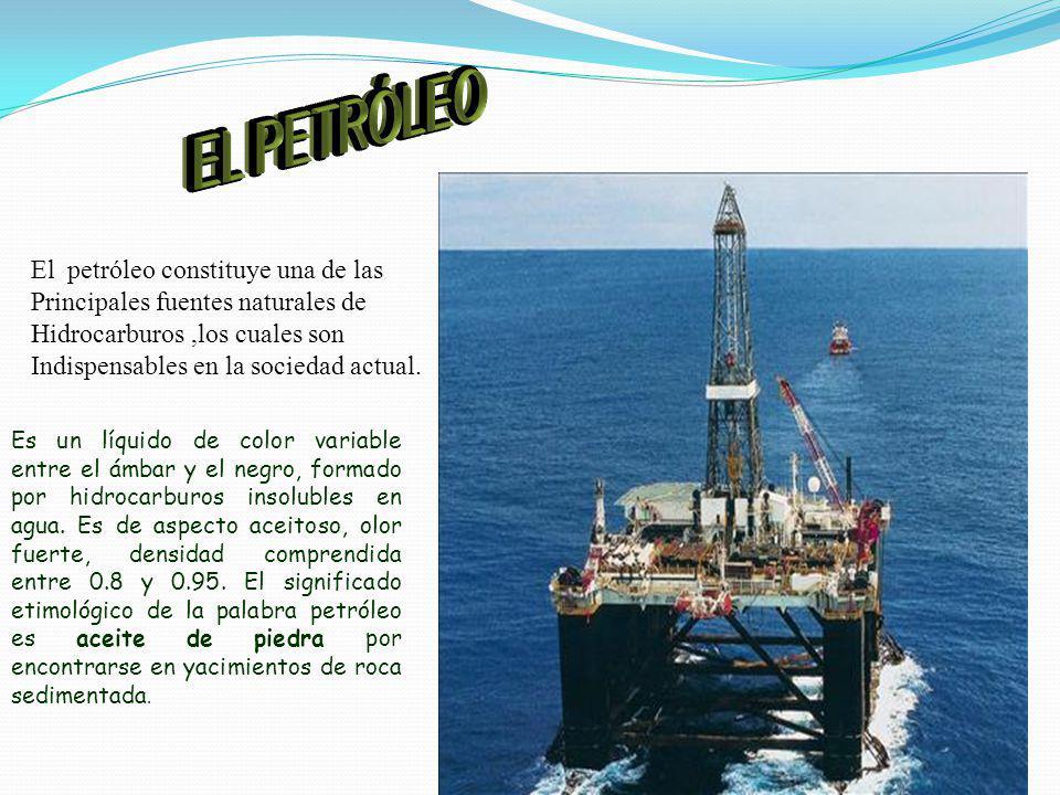 EL PETRÓLEO El petróleo constituye una de las