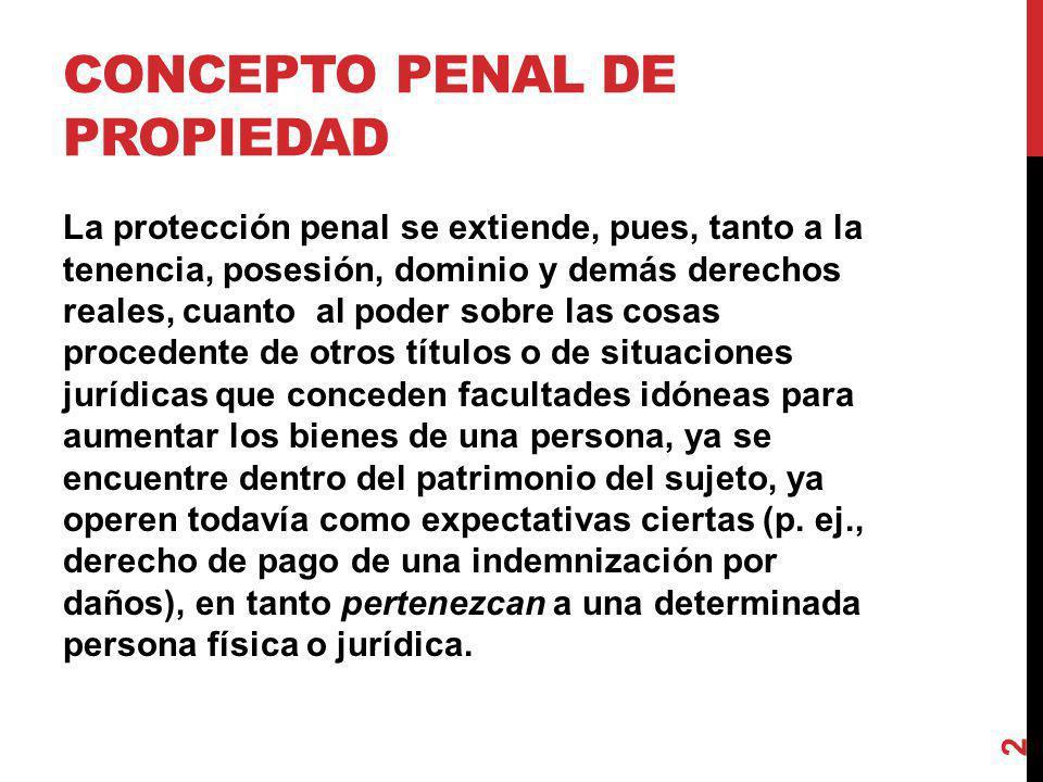 Concepto penal de propiedad