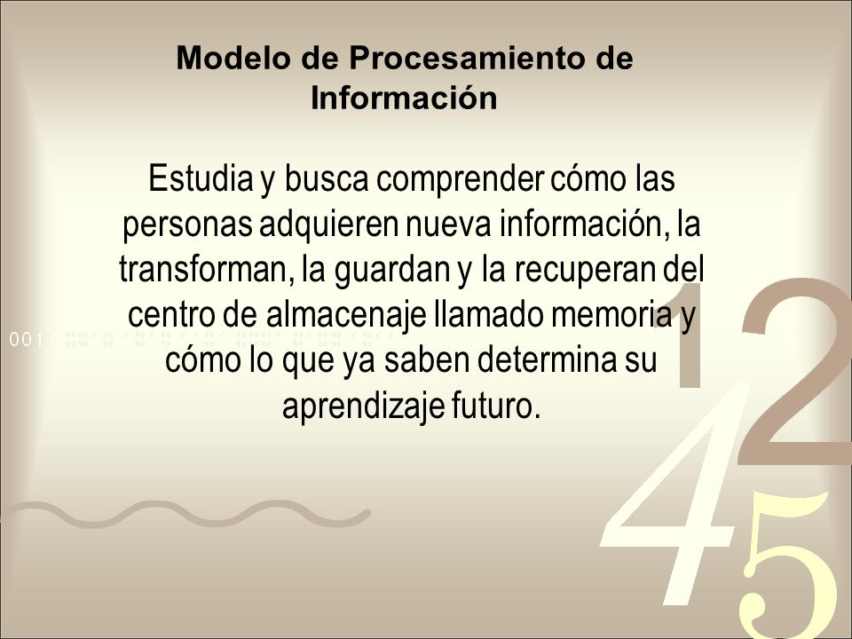 Modelo de Procesamiento de Información