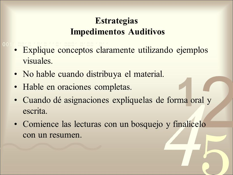 Estrategias Impedimentos Auditivos