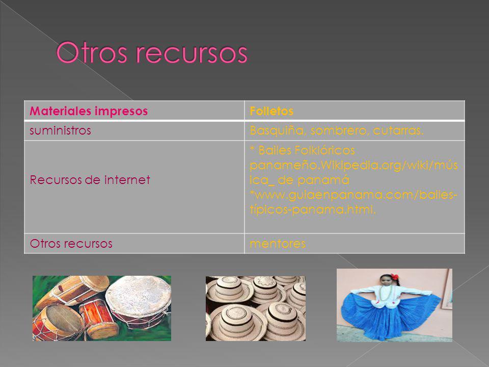 Otros recursos Materiales impresos Folletos suministros
