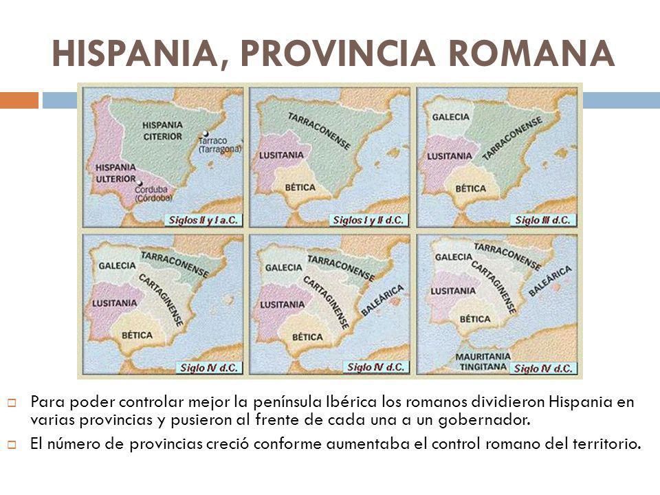 HISPANIA, PROVINCIA ROMANA