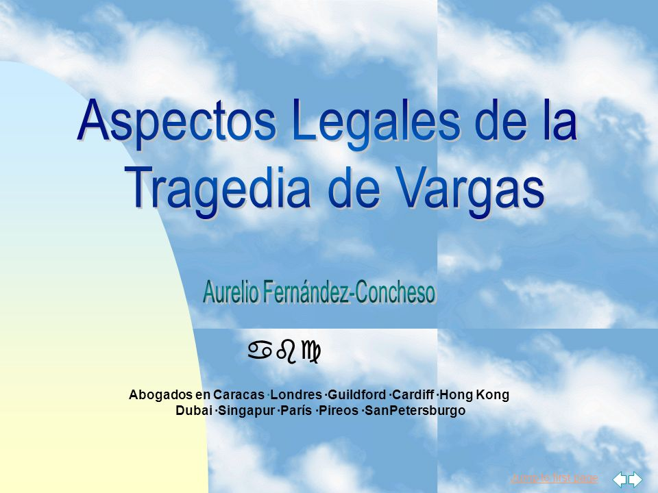 Aspectos Legales de la Tragedia de Vargas abc