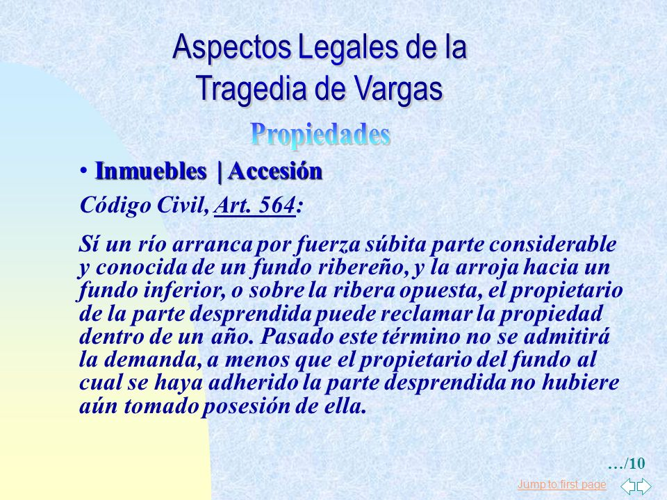 Aspectos Legales de la Tragedia de Vargas Propiedades