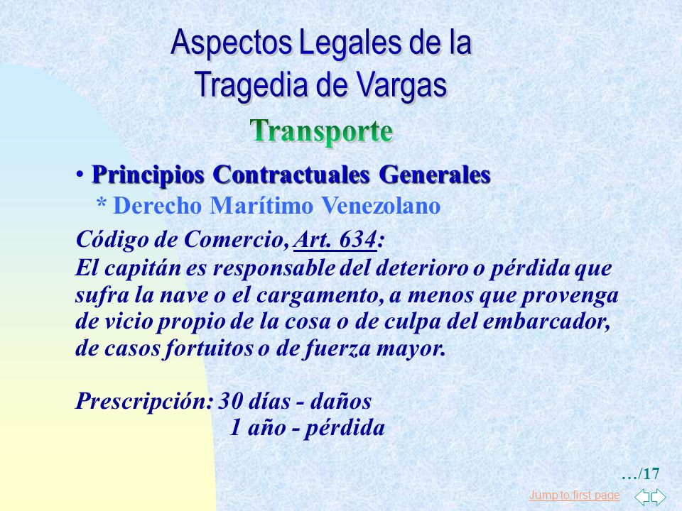 Aspectos Legales de la Tragedia de Vargas Transporte